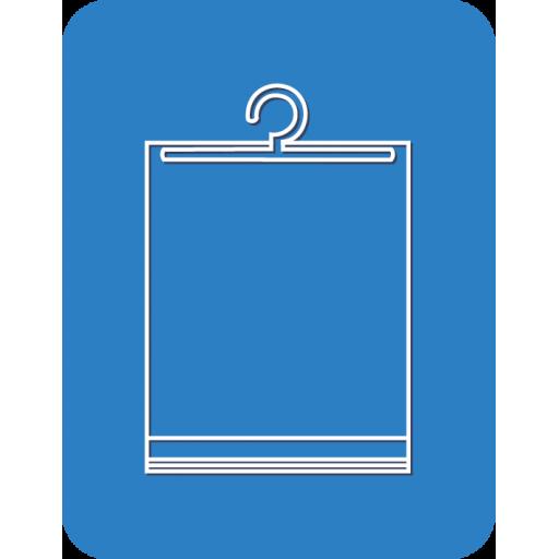 Пакет поливинилхлорид (ПВХ) со скотчем и крючком